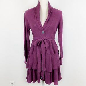 Matilda Jane Ruffle Cardigan Purple Layered S